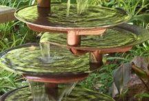 WATER & fountainbird-bath