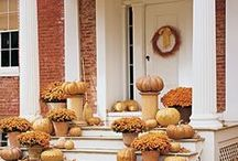 Fall Outdoor Decorating Inspiration / Whether you're going for simple or spectacular you'll find outdoor decorating ideas to spruce up your home for fall.