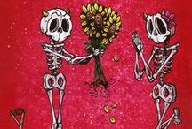 Love Art by David Lozeau / If you like your romance with a dash of the Day of the Dead, this is the art for you.