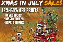 XMas in July Sale (2016) / Santa? We don't need no stinkin' Santa! Celebrate the Summer with this Christmas in July Sale (starting on the 19th at 6pm PST) and get your hands on some fyne art at lower prices!  These blems, discontinued, oops, and overstocks, in additional to a few original paintings, are all deeply discounted...but only for a limited time.