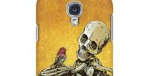Cell Phone Cases by David Lozeau / Put some style (and maybe some skeletons) on your cell!  These one-piece, plastic phone cases feature a slim profile, provide protection for the corners and edges, and allow for easy access to all ports and controls. https://www.davidlozeau.com/collections/cell-phone-cases