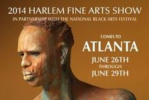 Harlem Fine Art Show - Atlanta 2014 / Getting ready for our big show. Here's the beauty and the art that we want to showcase! #Art #AfricanAmericanArt #Culture #AfricanArt #ArtShows #ArtExhibit  June 26 - June 29
