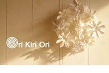 paper art / paper art  Ori Kiri Ori は紙を用いた立体造形です