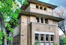 FLLW - Heller House / Isidore H. Heller House. Prairie Style.1897. Hyde Park, Chicago. Illinois.