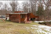 FLLW - Affleck House / Gregor Affleck house, Usonian Style. Bloomfield Hills, Michigan.1940