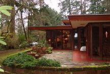 FLLW - Brandes House / Brandes House. Sammamish, Washington. Built 1952. Usonian Style.