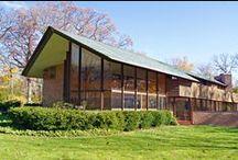 FLLW - Glore House / Charles F. Glore House. 1951. Lake Forest, Illinois. Usonian Style.