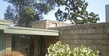 FLLW - Freeman House / The Samuel and Harriet Freeman House. 1924. Hollywood Heights. Textile block Period.