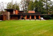 FLLW - Schwartz House / Bernard Schwartz House, 1939. Usonian Style. Two Rivers, Wisconsin.