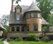 FLLW - Gale House, Walter / Walter H. Gale house, 1893,  Oak Park, Illinois.