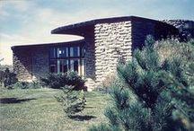 FLLW - Jacobs (2) House / Herbert & Katherine Jacobs House II. 1946-8. Madison, Wisconsin. Usonian