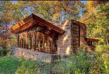 FLLW - Seth Peterson Cottage / Seth Peterson Cottage. 1958. On Mirror Lake in Lake Delton, Wisconsin. Usonian.