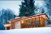 FLLW - Penfield House / Louis Penfield House .1953, Willoughby Hills. Cleveland, Ohio. Usonian Style.