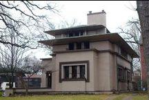 FLLW - Fricke House / William G. Fricke house. 1901. Oak Park, Chicago. Prairie Style.