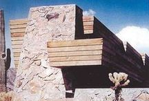 FLLW - Pauson House / Rose Pauson House 1942. Phoenix, Arizona. (In 1943, a house fire destroyed the house).