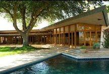FLLW - Fawcett House / Randall Fawcett House, 1961. Los Banos, California. Usonian Style