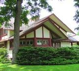 FLLW - Hickox House / Hickox House. Kankakee, Illinois. 1900. Prairie Style.