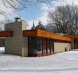 FLLW - Pratt House / Pratt House (The Acres), Galesburg, Michigan, 1949-51, Usonian