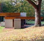 FLLW - Adelman House / Albert and Edith Adelman House. Usonian Style. Fox Point, Wisconsin.