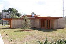FLLW - Sharp Residence / Robert R. Sharp Residence. Lakeland, Florida. Florida Southern College. Usonian Style. Designed in 1939, constructed 2013.