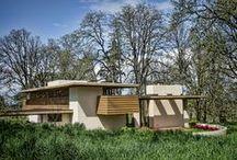 FLLW - Gordon House / Conrad and Evelyn Gordon House, Built 1957-63. Silverton, Oregon. Usonian Style.