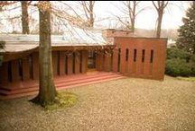 FLLW - Dobkins House / John J. Dobkins House. 1954. Canton, Ohio. Usonian Style.