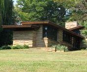 FLLW - Shavin Residence / Seamour and Gerte Shavin Residence, Chattanooga, Tennessee. 1950. Usonian Style.