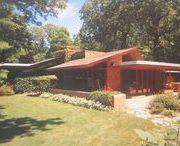 FLLW - Carr residence / John Carr residence. 1950. Glenview, Illinois. Usonian.