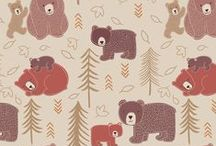 Lewis & Irene: Big Bear Little Bear / If you go down to the wigwam woods today you're sure of a nice surprise. Cute totem poles and paw prints to follow through the trees where you'll find the friendly... Big Bear, Little Bear  These fabrics are in fantastic tones of biscuit, milky tea, cream, chocolate, spiced pumpkin and blue.