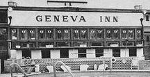 FLLW - The Geneva Inn / The Geneva Inn, Lake Geneva, Wisconsin, 1911, demolished in 1970 after a fire.