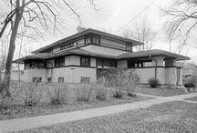 FLLW - Henderson House / F.B. Henderson House. Elmhurst, Illinois. 1901. Prairie Style.