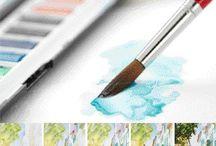 Piirtäminen maalaus / Kädenjälki