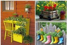 Container Gardening / Containers to grow plants in can be anything, from an old boot, to a tip truck toy, or an old tyre. You could even use your Freezer Pods to sprout seedlings in! www.weanmeister.com.au #weanmeister #babyfood #babyfoodstorage #reuse #recycle #freezerpods #adorabowls