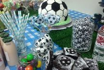 Maxwell's first birthday soccer theme / A soccer theme birthday party for my special little man :)