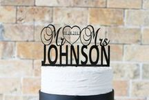 Wedding Essentials / Toasting flutes, server sets and cake toppers are wedding day essentials!