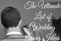 Wedding Playlist / Some musical inspiration for your First Dance, Parent Dances, and Reception music!