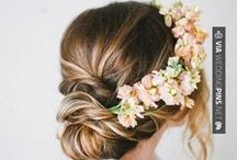 """Flower Crowns / For your wedding or """"just because,"""" put some flowers in your hair and channel your inner boho beauty."""