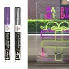 (Raam)tekenmateriaal / Fijne krijtstiften, lak markers, raamstiften en ander tekenmateriaal om op het raam te tekenen.