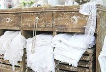 Shabby Chic / White furniture. Wood. Shabby Chic. Homes. Antiques. Vintage. French Country Cottage. Decor.