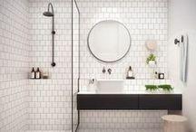 bathrooms / #homedecor #interiordesign #rusticmodern #bold #design #style #home #interior #living #bathroom #reno