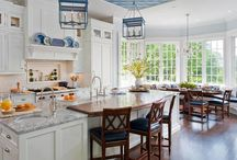"Cuisine / Kitchen Inspiration / We plan to renew kitchen in our home. My selection to pick up inspiration. Focus on white cabinet and ""family soul "". December 2014 : our kitchen is finished !"