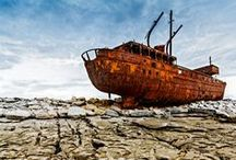 Shipwrecks / Rustic abandoned old ships... Tragically beautiful images of the most haunting shipwrecks.