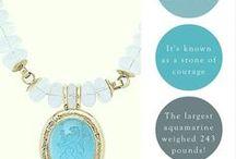 March Birthstone: Aquamarine / The birthstone of March, aquamarine symbolises youthfulness and hope! #birthstone #aqumarine