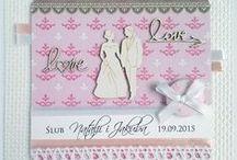 Kartki ślubne / Wedding cards / Własnoręcznie robione kartki ślubne