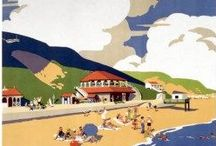 Vintage Travel Posters / Vintage British travel posters from railway advertisements often seaside