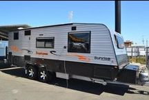 "Sunrise Caravans Tropicana / 6"" drawbar and chassis - supagal, 15"" light truck tyres with alloy rims, tyre brace, spare tyre on bumper bar, mud flaps, coil control rider suspension, single manual Omni step, 1/2 checker plate front and sides, padded stone guard and much more."