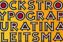 Art Deco Fonts / Revival typefaces and original font designs in art deco style.