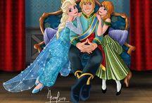 Frozen / parla di due sorelle,Anna e Elsa e i suoi amici ,Olaf ,Kristoff e sven e il nemico ,Hans / by Priscilla Peters