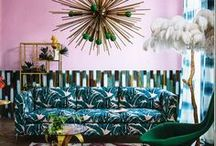 Botanical interiors / Botanical interiors trend, prints, wallpaper, fabrics