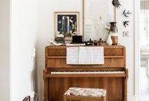 Bohemian Modern interior decor / Beautiful bohemian modern looks, rustic vintage home style